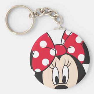 Red Minnie | Cute Closeup Keychain