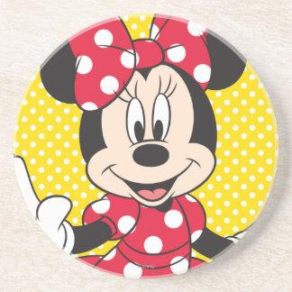 Red Minnie | Cute Closeup Sandstone Coaster