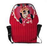 Red Minnie | Flower Frame Courier Bag