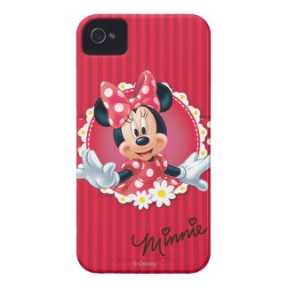 Red Minnie | Flower Frame iPhone 4 Cover