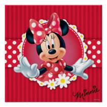 Red Minnie | Flower Frame Poster