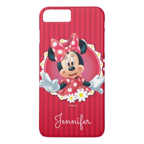 Red Minnie | Flower Frame | Your Name Phone Case