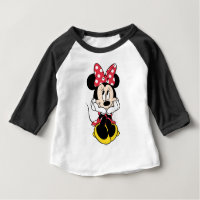 Red Minnie   Head in Hands Baby T-Shirt