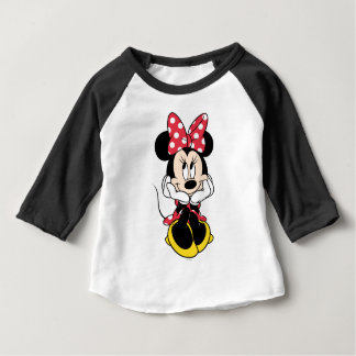 Red Minnie | Head in Hands Baby T-Shirt