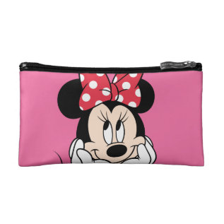Red Minnie   Head In Hands Cosmetic Bag at Zazzle