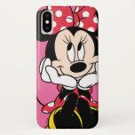 "Red Minnie | Head in Hands iPhone X Case<br><div class=""desc"">Red &amp; White Minnie 1</div>"