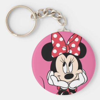 Red Minnie | Head in Hands Keychain