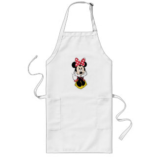 Red Minnie   Head in Hands Long Apron