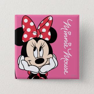 Red Minnie | Head in Hands Pinback Button
