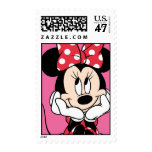 Red Minnie | Head in Hands Postage Stamp