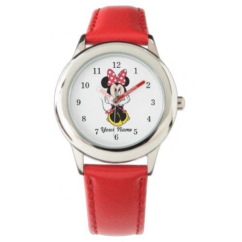 Red Minnie | Head in Hands Wrist Watch