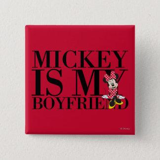 Red Minnie | Mickey is My Boyfriend Button