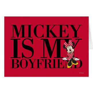 Red Minnie | Mickey is My Boyfriend Card
