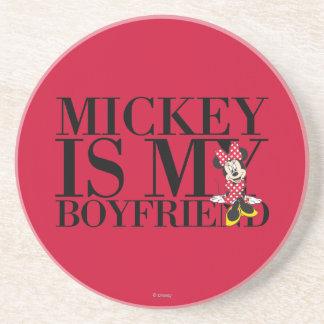 Red Minnie | Mickey is My Boyfriend Drink Coaster