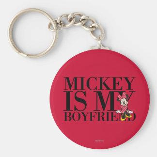 Red Minnie | Mickey is My Boyfriend Keychain