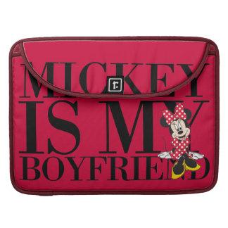 Red Minnie | Mickey is My Boyfriend Sleeve For MacBooks