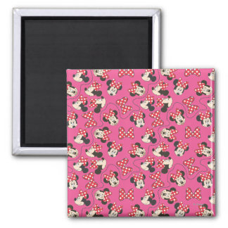 Red Minnie | Pink Pattern Magnet