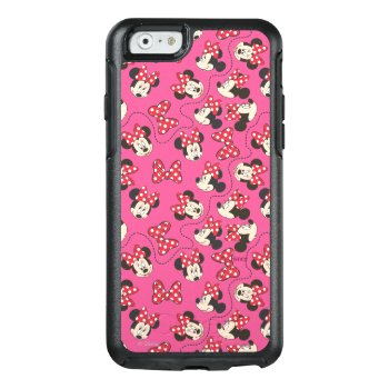 Red Minnie | Pink Pattern Otterbox Iphone 6/6s Case by disney at Zazzle