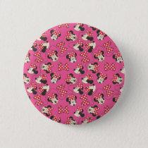 Red Minnie | Pink Pattern Pinback Button