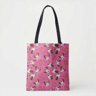Red Minnie | Pink Pattern Tote Bag