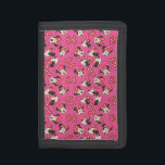 """Red Minnie   Pink Pattern Trifold Wallet<br><div class=""""desc"""">Minnie Mouse</div>"""