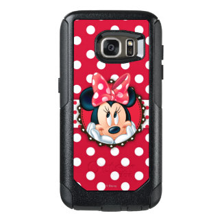 Red Minnie | Polka Dot Frame OtterBox Samsung Galaxy S7 Case