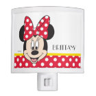 Red Minnie | Polka Dots - Add Your Name Night Light