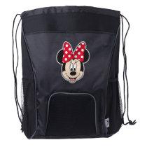 Red Minnie | Polka Dots Drawstring Backpack