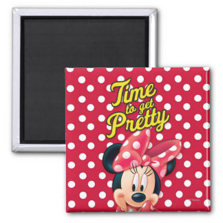 Red Minnie | Pretty 2 Inch Square Magnet