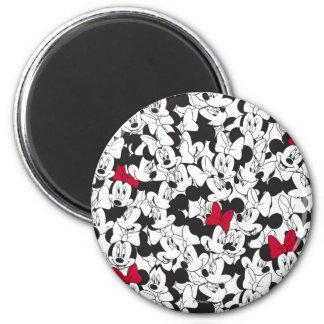 Red Minnie | Red Bow Pattern 2 Inch Round Magnet