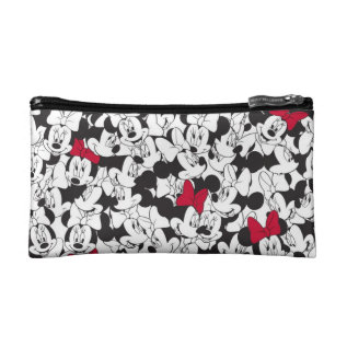 Red Minnie   Red Bow Pattern Cosmetic Bag at Zazzle