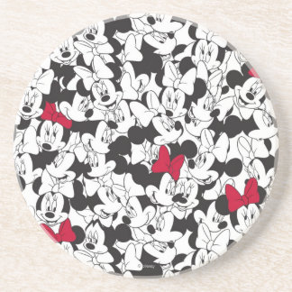 Red Minnie | Red Bow Pattern Drink Coaster
