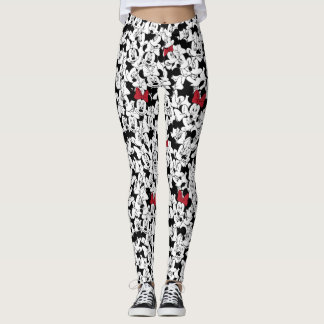 Red Minnie | Red Bow Pattern Leggings