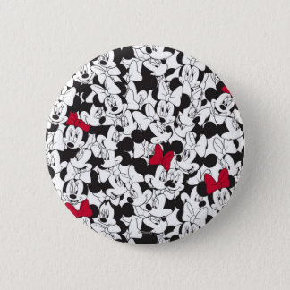 Red Minnie | Red Bow Pattern Pinback Button