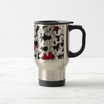 Red Minnie | Red Bow Pattern Travel Mug