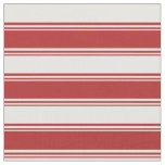 [ Thumbnail: Red & Mint Cream Colored Lined/Striped Pattern Fabric ]