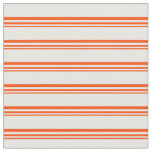 [ Thumbnail: Red & Mint Cream Colored Lines/Stripes Pattern Fabric ]