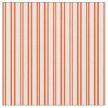 [ Thumbnail: Red & Mint Cream Colored Pattern of Stripes Fabric ]