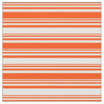 [ Thumbnail: Red & Mint Cream Colored Stripes Fabric ]