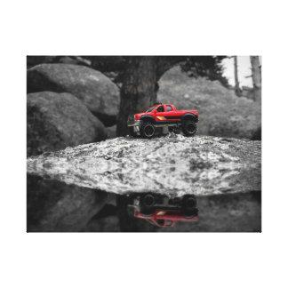 Red Mirror Lake Canvas Print