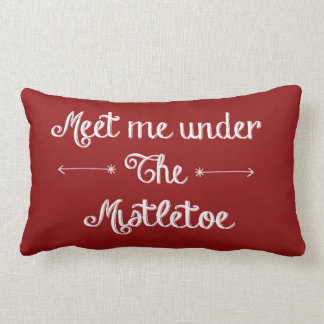 Red Mistletoe Pillow