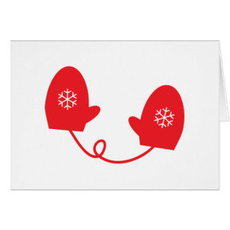 Red Mittens Card