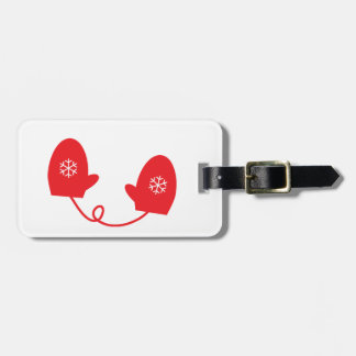 Red Mittens Bag Tags