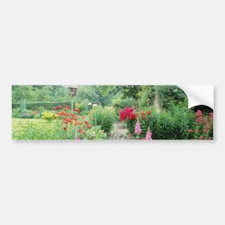 Red Mixed Cottage Garden - Peony, Pyrethrum, Alliu Bumper Sticker