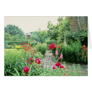 Red Mixed Cottage Garden - Peony, Pyrethrum, Alliu Card