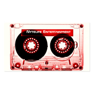 Red Mixtape Business Card