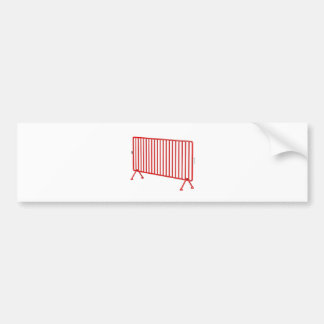Red mobile fence bumper sticker