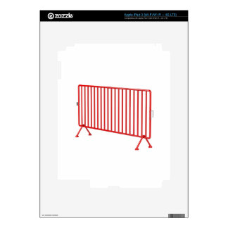 Red mobile fence iPad 3 decal
