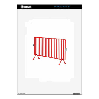 Red mobile fence skin for iPad 2
