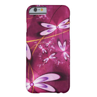 Red mobile phone covering with bloom sample barely there iPhone 6 case